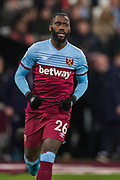 Arthur Masuaku (West Ham) comes on as a substitute during the Premier League match between West Ham United and Arsenal at the London Stadium, London, England on 9 December 2019.