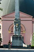 Runde Kirche St. Ludwig und Alice-Denkmal, Darmstadt, Hessen, Deutschland
