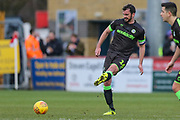 Forest Green Rovers Gavin Gunning(16) passes the ball forward during the EFL Sky Bet League 2 match between Stevenage and Forest Green Rovers at the Lamex Stadium, Stevenage, England on 26 January 2019.