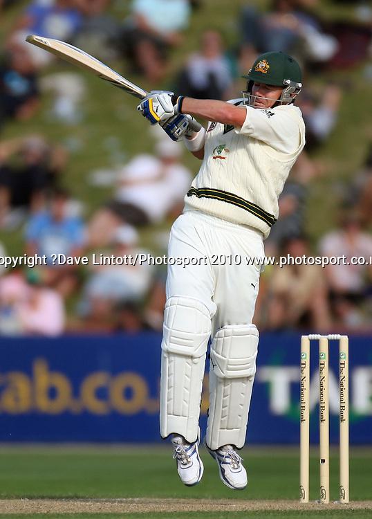 Australian batsman Marcus North.<br /> 1st cricket test match - New Zealand Black Caps v Australia, day one at the Basin Reserve, Wellington.Friday, 19 March 2010. Photo: Dave Lintott/PHOTOSPORT