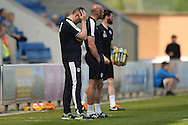 Colchester United Caretaker Manager Steve Ball is left dejected during the Sky Bet League 1 match between Colchester United and Rochdale at the Weston Homes Community Stadium, Colchester<br /> Picture by Richard Blaxall/Focus Images Ltd +44 7853 364624<br /> 08/05/2016