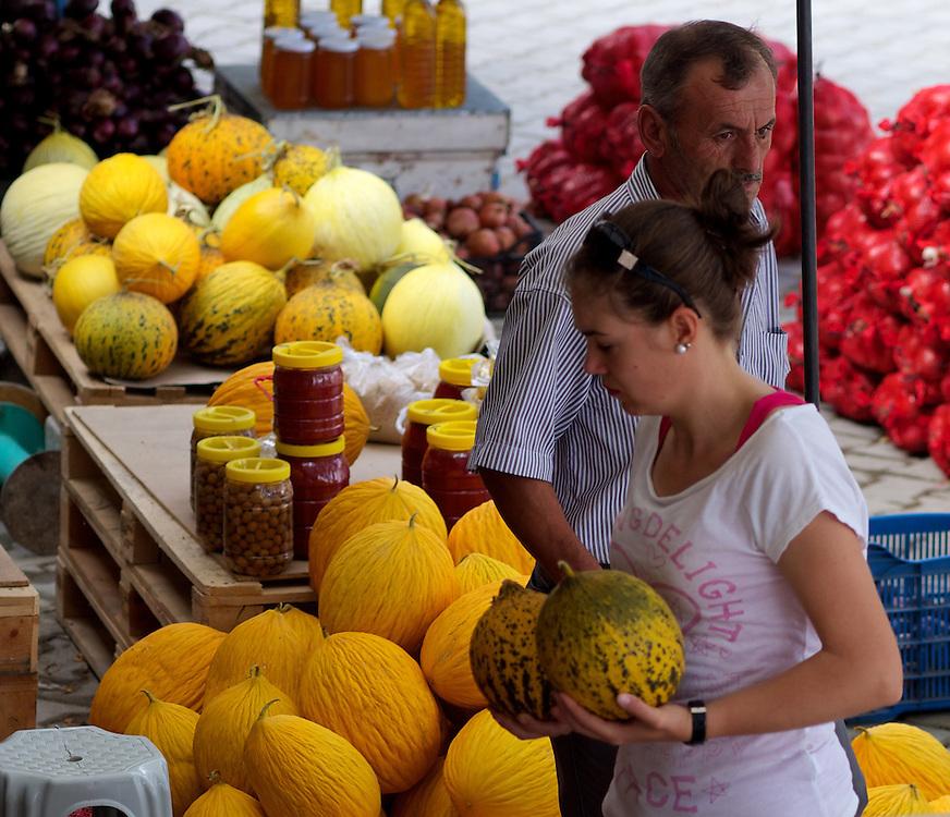 Delivering melons to market