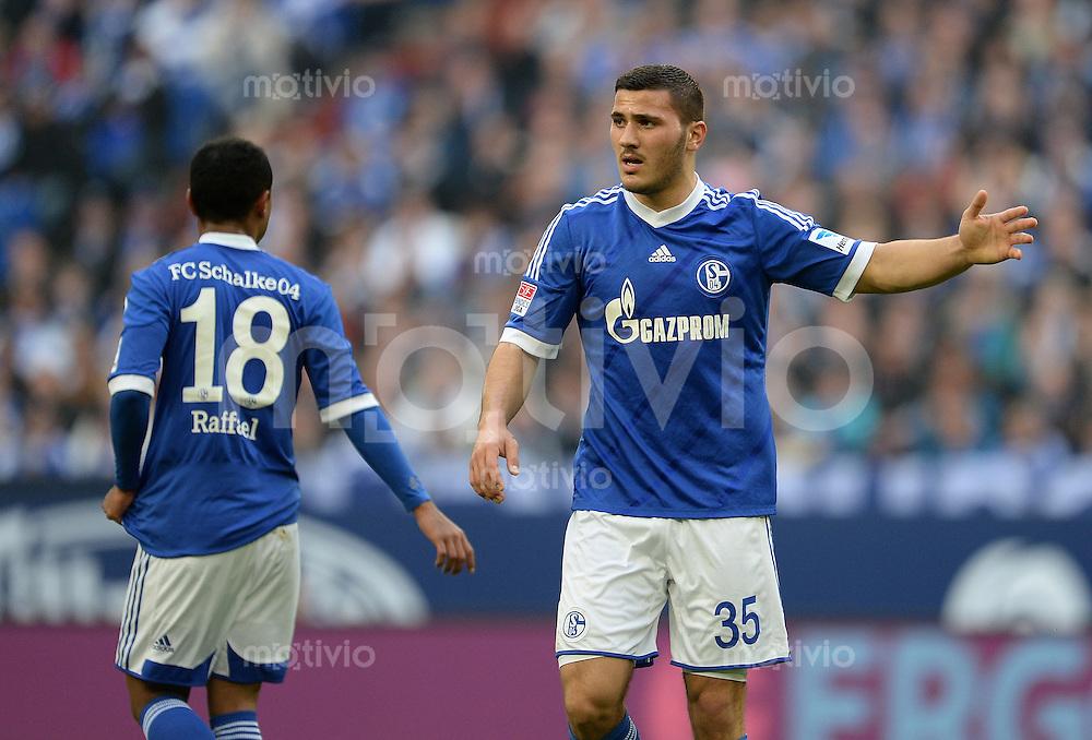 FUSSBALL   1. BUNDESLIGA   SAISON 2012/2013    29. SPIELTAG FC Schalke 04 - Bayer 04 Leverkusen                        13.04.2013 Sead Kolasinac (FC Schalke 04)