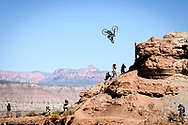 Kurt Sorge during finals at Red Bull Rampage in Virgin, UT. © Brett Wilhelm