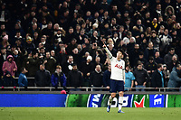 Football - 2019 / 2020 Emirates FA Cup - Fourth Round, Replay: Tottenham Hotspur vs. Southampton<br /> <br /> Tottenham Hotspur's Son Heung-Min celebrates scoring his side's third goal from the penalty spot, at The Tottenham Hotspur Stadium.<br /> <br /> COLORSPORT/ASHLEY WESTERN