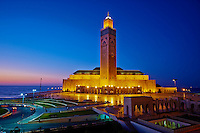 Maroc, Casablanca, la mosquee Hassan II // Morocco, Casablanca,  Hassan II mosque