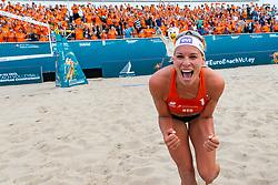20-07-2018 NED: CEV DELA Beach Volleyball European Championship day 6<br /> Madelein Meppelink NED #2, Sanne Keizer NED #1 (foto) winnen van het Spaanse duo en staat morgen (zaterdag) in de halve finale.