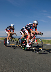 The University of California - Santa Barbara team of Nicholas Martinez, Maksym Fatyga, Patrick Healy, and Daniel Katz competes in the men's division 1 race.  The 2008 USA Cycling Collegiate National Championships Team Time Trial event was held near Wellington, CO on May 9, 2008.  Teams of 3 or 4 riders raced over a 20km out and back course that ran along a service road to Interstate 25.