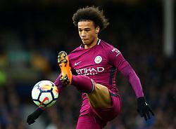 Leroy Sane of Manchester City - Mandatory by-line: Robbie Stephenson/JMP - 31/03/2018 - FOOTBALL - Goodison Park - Liverpool, England - Everton v Manchester City - Premier League