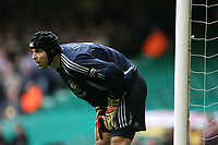 Photo: Rich Eaton.<br /> <br /> Chelsea v Arsenal. Carling Cup Final. 25/02/2007. Petr Cech, the Chelsea goalkeeper