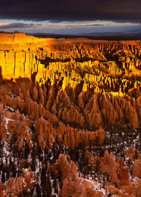 Warm light on a cold morning, Bryce Canyon National Park in Utah.