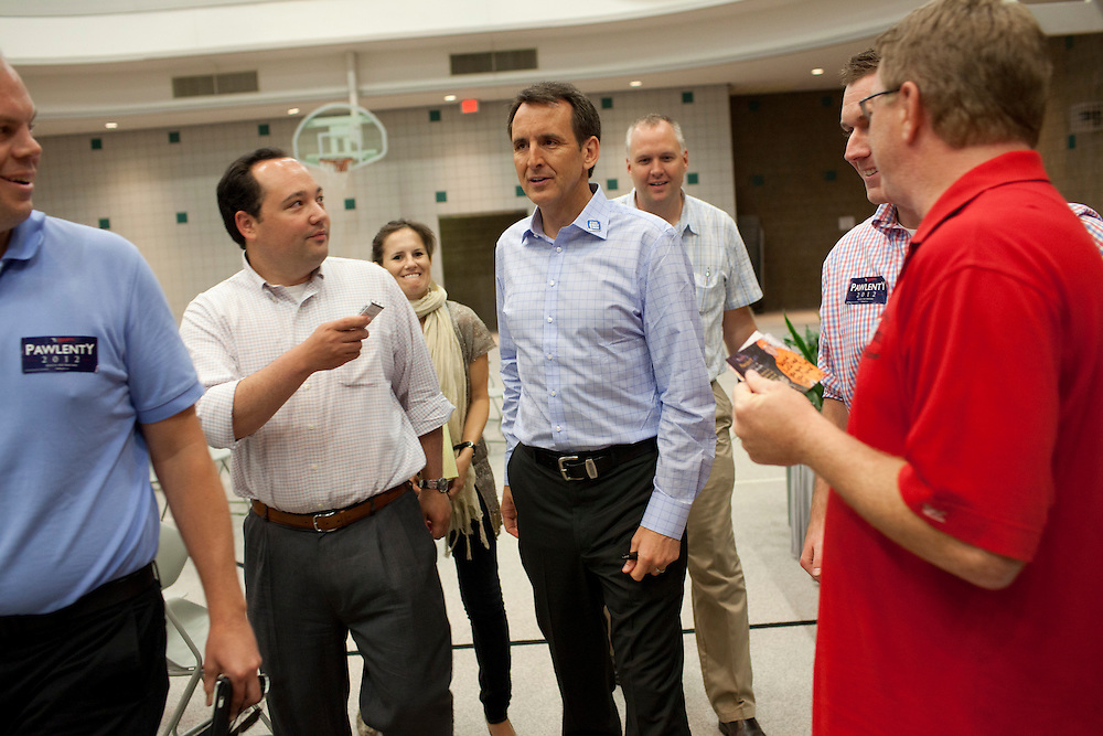 Republican presidential hopeful TIm Pawlenty campaigns on Wednesday, July 20, 2011 in West Des Moines, IA.