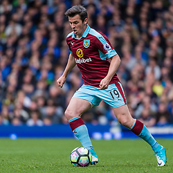 Burnley midfielder Joey Barton (19) on the ball in the Premier League match between Everton and Burnley<br /> (c) John Baguley | SportPix.org.uk