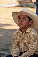 Crow Fair, Indian rodeo, Young cowboy, Crow Indian Reservation, Montana