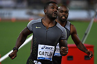 Justin GATLIN USA 100m Men Winner <br /> Roma 03-06-2016 Stadio Olimpico <br /> IAAF Diamond League Golden Gala <br /> Atletica Leggera<br /> Foto Andrea Staccioli / Insidefoto