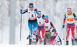 21.02.2016, Salpausselkae Stadion, Lahti, FIN, FIS Weltcup Langlauf, Lahti, Damen Skiathlon, im Bild v.l.: Krista Parmakoski (FIN), Therese Johaug (NOR) // f.l.: Krista Parmakoski of Finland, Therese Johaug of Norway during Ladies Skiathlon FIS Cross Country World Cup, Lahti Ski Games at the Salpausselkae Stadium in Lahti, Finland on 2016/02/21. EXPA Pictures © 2016, PhotoCredit: EXPA/ JFK