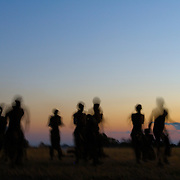 Ingonyama drama group dancing for tourists Hwange national park Zimbabwe