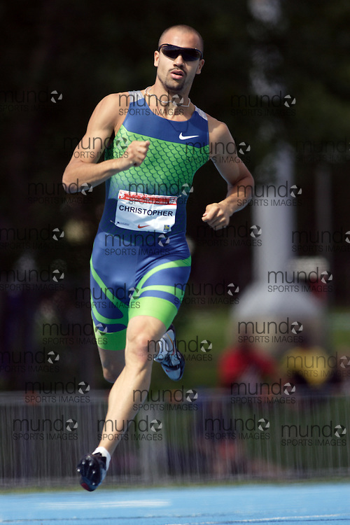 Tyler Christopher competing in the 400m at the 2006 Canadian Senior Track and Field Championships held in Ottawa 4-6 August 2006.