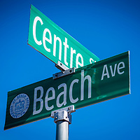 Beach Ave and Centre Street in the Beach Haven section of long Beach Island, New Jersey, USA