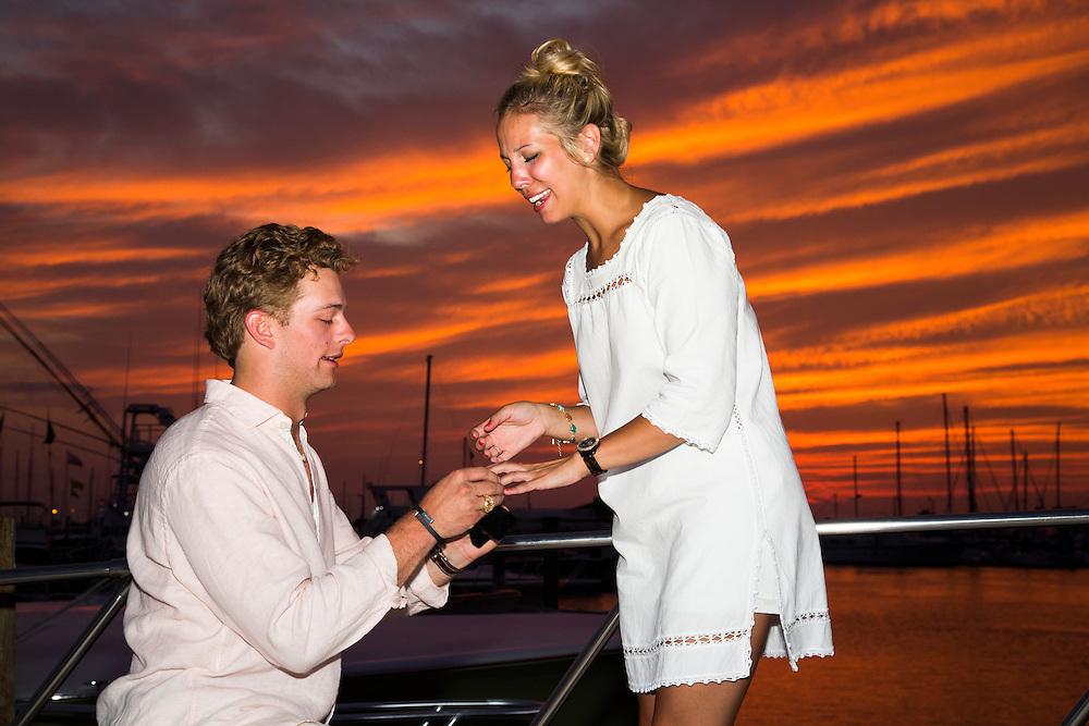Wedding Proposal photography by Tim Burdick in Port Aransas, TX