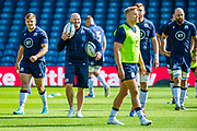 Scotland head coach Gregor Townsend (with balls) during the Scotland Rugby training run ahead of their match against France at BT Murrayfield Stadium, Edinburgh, Scotland on 23 August 2019.