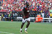 Manchester United Forward Romelu Lukaku in warm up during the International Champions Cup match between Barcelona and Manchester United at FedEx Field, Landover, United States on 26 July 2017.