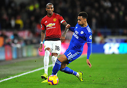 Ashley Young of Manchester United is challenged by Josh Murphy of Cardiff City- Mandatory by-line: Nizaam Jones/JMP - 22/12/2018 -  FOOTBALL - Cardiff City Stadium - Cardiff, Wales-  Cardiff City v Manchester United - Premier League