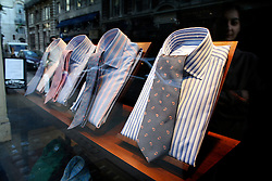 UK ENGLAND LONDON 6APR07 - Shirts and ties on display in a shop window in Mayfair, West End, central London...jre/Photo by Jiri Rezac..© Jiri Rezac 2007..Contact: +44 (0) 7050 110 417.Mobile:  +44 (0) 7801 337 683.Office:  +44 (0) 20 8968 9635..Email:   jiri@jirirezac.com.Web:    www.jirirezac.com..© All images Jiri Rezac 2007 - All rights reserved.