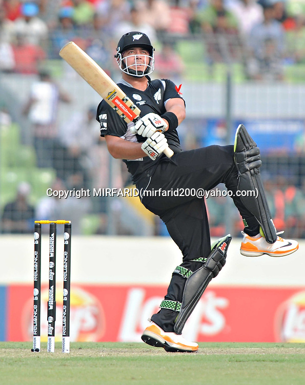 Jesse Ryder during the ICC Cricket World Cup quarter final match between South Africa and New Zealand held at the Shere Bangla National Stadium, Mirpur, Bangladesh on the 25 March 2011..Photo by SPORTZPICS