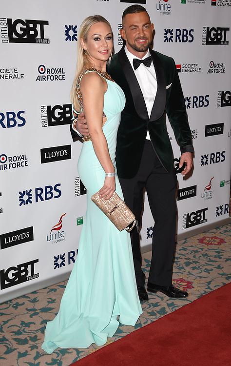 Kristina Rihnoff and Robin Windsor attend The British LGBT Awards at The Landmark Hotel, London on Friday 24 April 2015