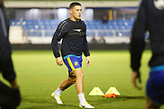 Lee Vaughan warms up before the The FA Cup match between Solihull Moors and Rotherham United at the Automated Technology Group Stadium, Solihull, United Kingdom on 2 December 2019.