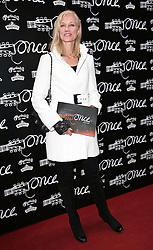 Joely Richardson arriving for the opening night of the West End production of the Broadway hit musical Once in London ,Tuesday, 9th April 9th 2013 Photo by: Stephen Lock / i-Images