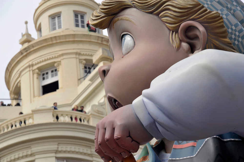 "A ""ninot"" of the ""falla del Ayuntamiento"" during the celebration of fallas on march 2010"