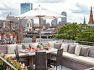 Roof Deck of Beacon Hill Townhouse. Designer: Patricia McDonagh Interior Design