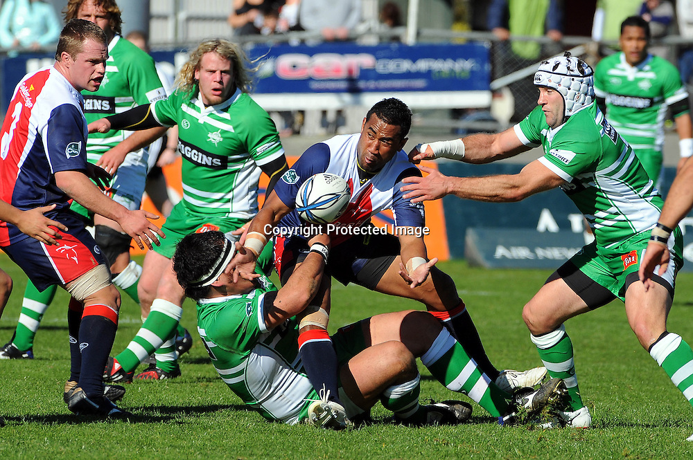 Tasman`s Sione Holani in action during their Air NZ Cup Rugby Union Match. Tasman v Manawatu, Trafalgar Park, Nelson, New Zealand. Saturday 5 September 2009. Photo: Chris Symes/PHOTOSPORT