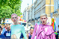 Thousands took to the streets of London to celebrate LGBT society.