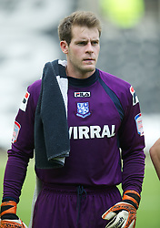NOTTINGHAM, ENGLAND - Saturday, October 6, 2012: Tranmere Rovers' goalkeeper Owain Fon Williams before the Football League One match against Notts County at Meadow Lane. (Pic by David Rawcliffe/Propaganda)