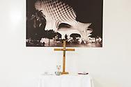 Altar in hotel, Sevilla, Spain.