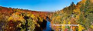 64776-011.07 Fall Color Dead River Marquette county in the Upper Peninsula, MI