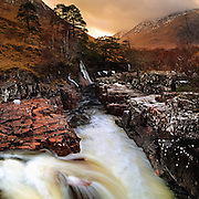 Thaw on the river Etive