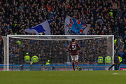Rangers fans celebrate an early 2nd half goal during the Betfred Scottish League Cup semi-final match between Rangers and Heart of Midlothian at Hampden Park, Glasgow, United Kingdom on 3 November 2019.