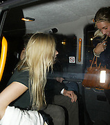 25.SEPTEMBER.2007. LONDON<br /> <br /> HUGH GRANT TRIES TO GO INTO BOUJIS NIGHT CLUB AT 2.30AM AND WHEN HE SAW PHOTOGRAPHERS HE RAN BACK INTO THE CAB HE ARRIVED IN WITH 3 GIRLS AND ONE GIRL WAS TRYING TO HIDE HIS FACE WITH HER HAND.<br /> <br /> BYLINE: EDBIMAGEARCHIVE.CO.UK<br /> <br /> *THIS IMAGE IS STRICTLY FOR UK NEWSPAPERS AND MAGAZINES ONLY*<br /> *FOR WORLD WIDE SALES AND WEB USE PLEASE CONTACT EDBIMAGEARCHIVE - 0208 954 5968*
