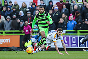 Forest Green Rovers Dan Wishart(17) runs forward during the EFL Sky Bet League 2 match between Forest Green Rovers and Port Vale at the New Lawn, Forest Green, United Kingdom on 6 January 2018. Photo by Shane Healey.