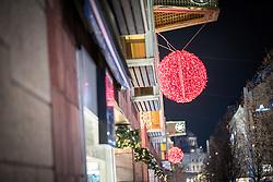 20 November 2016, Stockholm, Sweden: Christmas lights over the streets of Stockholm.
