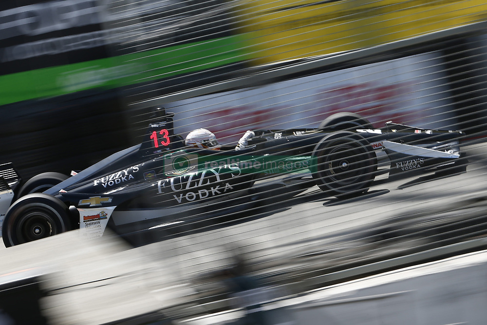 April 13, 2018 - Long Beach, California, United States of America - April 13, 2018 - Long Beach, California, USA: Jordan King (20) takes to the track to practice for the Toyota Grand Prix of Long Beach at Streets of Long Beach in Long Beach, California. (Credit Image: © Justin R. Noe Asp Inc/ASP via ZUMA Wire)