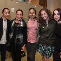 Presenter Stephanie Nguyen (L) with friends after panel at LEAP Symposium, Mount Holyoke College, 10/18/2013