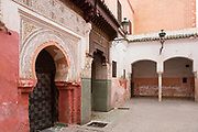 Zaouia / zawiya burial tomb shrine site of Sidi Ben Slimane - Shaykh Muhammad ibn Sulayman al-Jazuli, Marrakesh, Morocco, 2016–04-19. <br />
