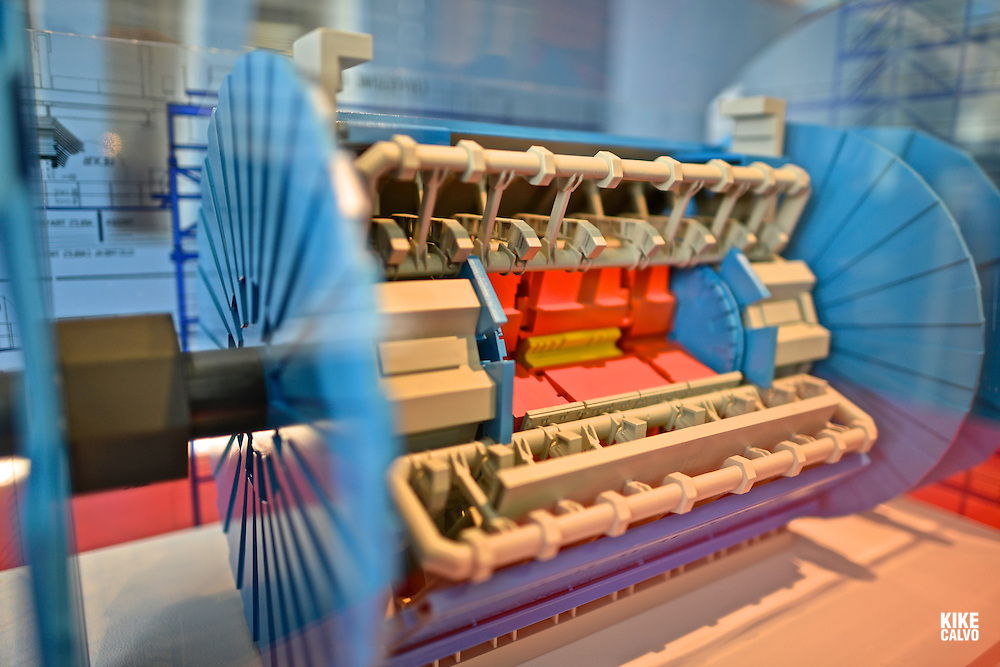 Miniature of the ATLAS Detector. CERN, the European Organization for Nuclear Research, is the biggest particle physics laboratory in the world.