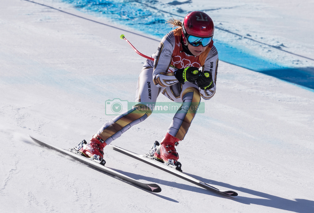 February 17, 2018 - PyeongChang, South Korea - ESTER LEDECKA of Czech Republic during Alpine Skiing: Ladies Super-G at Jeongseon Alpine Centre at the 2018 Pyeongchang Winter Olympic Games. (Credit Image: © Patrice Lapointe via ZUMA Wire)