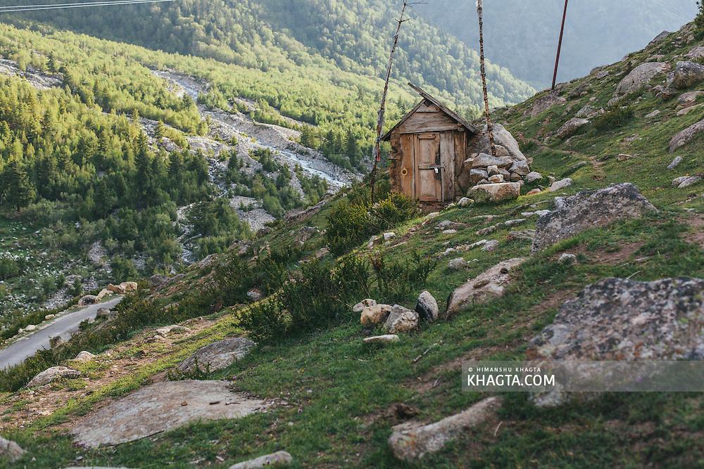 A small temple near village Chitkul, Kinnaur
